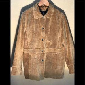 Vintage Women's Medium Suede button front jacket